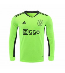 Ajax Long Sleeve Green Goalkeeper Football Shirt Mens Soccer Jersey 2020-2021
