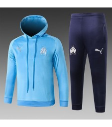 Olympique Marseille Kids Light Blue Tracksuit Hoodie 2018/2019
