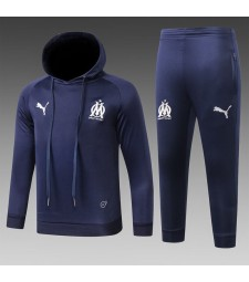 Olympique Marseille Kids Royal Blue Tracksuit Hoodie 2018/2019