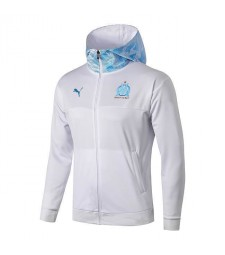 Olympique De Marseille White Hoodie Jacket Kit 2019-2020