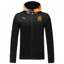 Olympique De Marseille Black Hoodie Jacket Orange Hat 2019-2020