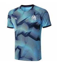 Olympique De Marseille Training Jersey Blue Printing 2019-2020