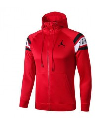 Jordan Long Zip Red Hoodie Jacket 2019-2020