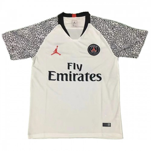 newest eb9e7 ede1e Jordan Paris Saint Germain White Training Jersey 2019-2020