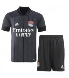 Olympique Lyon Away Soccer Jerseys Kids Kit Football Shirts Uniforms 2020-2021