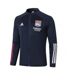Olympique Lyon Royal Blue Soccer Jacket Football Tracksuit 2020-2021