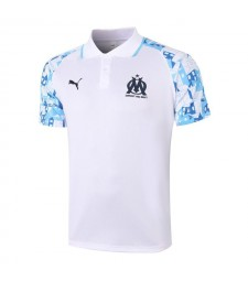 Olympique De Marseille White Soccer Jerseys Football Polo 2020-2021