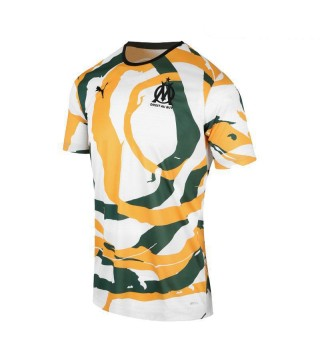 Olympique Marseille OM Africa Football Shirt White-Green-Yellow  Mens Soccer Jersey 2021-2022