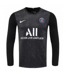 Paris Saint-Germain Black Long Sleeve Goalkeeper Soccer Jersey Football Shirts Uniforms 2020-2021