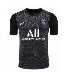 Paris Saint-Germain Black Goalkeeper Soccer Jersey Football Shirts Uniforms 2020-2021