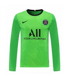 Paris Saint-Germain Green Long Sleeve Goalkeeper Soccer Jersey Football Shirts Uniforms 2020-2021