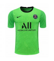 Paris Saint-Germain Green Goalkeeper Soccer Jersey Football Shirts Uniforms 2020-2021