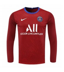 Paris Saint-Germain Red Long Sleeve Goalkeeper Soccer Jersey Football Shirts Uniforms 2020-2021