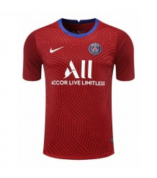 Paris Saint-Germain Red Goalkeeper Soccer Jersey Football Shirts Uniforms 2020-2021