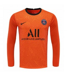Paris Saint-Germain Orange Long Sleeve Goalkeeper Soccer Jersey Football Shirts Uniforms 2020-2021