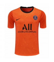 Paris Saint-Germain Orange Goalkeeper Soccer Jersey Football Shirts Uniforms 2020-2021