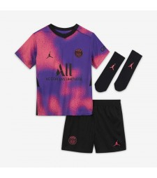 Jordan Paris Saint Germain Fourth Kids Soccer Jersey Kit 2020-2021