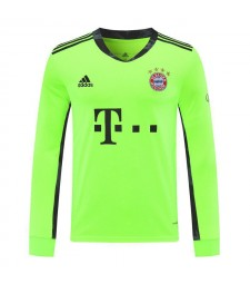 Bayern Munich Green Long Sleeve Goalkeeper Soccer Jersey Mens Football Shirt 2020-2021