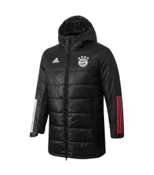 Bayern Munichen Soccer Winter Jacket Black Football Cotton Coat 2020-2021