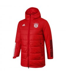 Bayern Munichen Soccer Winter Jacket Red Football Cotton Coat 2020-2021