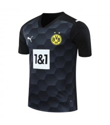 Borussia Dortmund Goalkeeper Black Soccer Jersey Football Uniforms 2020-2021