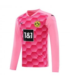 Borussia Dortmund Goalkeeper Pink Long Sleeve Soccer Jersey Football Uniforms 2020-2021