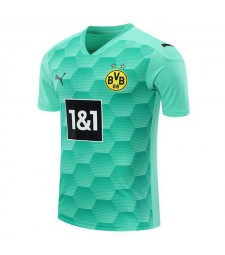 Borussia Dortmund Goalkeeper Sky Blue Soccer Jersey Football Uniforms 2020-2021