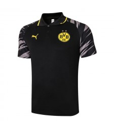 Borussia Dortmund Black Soccer Jerseys Football Polo 2020-2021