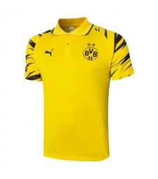 Borussia Dortmund Yellow Soccer Jerseys Football Polo 2020-2021