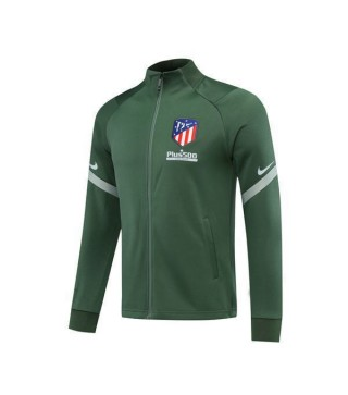 Atletico De Madrid Mens Football Green Training Soccer Jacket 2020-2021