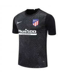 Atletico Madrid Black Goalkeeper Soccer Jersey Mens Football Shirt 2020-2021