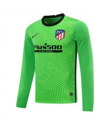 Atletico Madrid Green Long Sleeve Goalkeeper Soccer Jersey Mens Football Shirt 2020-2021