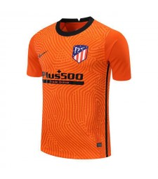 Atletico Madrid Orange Goalkeeper Soccer Jersey Mens Football Shirt 2020-2021