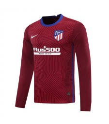Atletico Madrid Red Long Sleeve Goalkeeper Soccer Jersey Mens Football Shirt 2020-2021