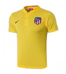 Atletico Madrid Polo Football Training Jersey Soccer Yellow Sportwear T-shirt 2019-2020