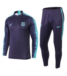 Barcelona Black Purple Printed Sleeve Tracksuit 2018/2019
