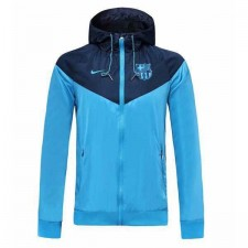 Barcelona Light Blue Hoodie Jacket 2019-2020
