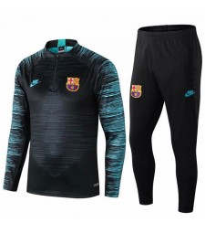 Barcelona Black Printed Sleeves Tracksuit 2019-2020