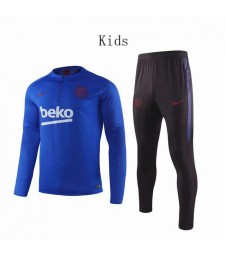 Barcelona Color Blue Kids Soccer Tracksuit 2019-2020
