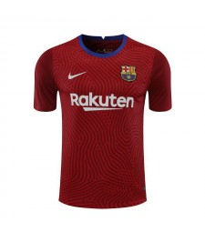 Barcelona Goalkeeper Red Soccer Jerseys Mens Football Shirts Uniforms 2020-2021