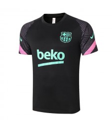 Barcelona Short Sleeve Training Soccer Jerseys Mens Football Shirts Uniforms 2020-2021
