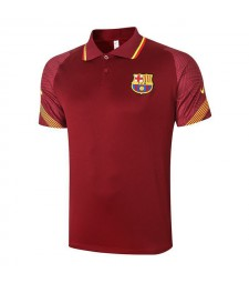 Barcelona Red Soccer Jerseys Football Polo 2020-2021