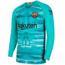 Barcelona Goalkeeper Long Sleeve Jersey Blue  Mens Football 2019-2020