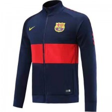 Barcelona Dark Blue Jacket Full Zipper Mens Training Kit Hight-neck 2019-2020