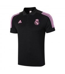 Real Madrid Black Soccer Jerseys Football Polo 2020-2021