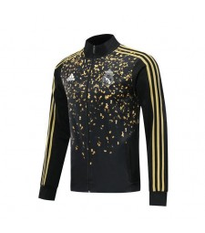 Real Madrid Black Soccer Jacket Gold Sequins 2019-2020