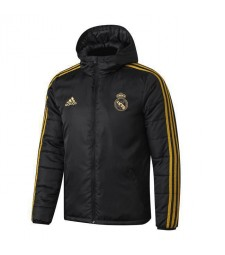Real Madrid Black Winter Cotton Coat 2019-2020