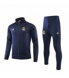 Real Madrid Dark Blue Jacket Kit Long Zipper 2019-2020