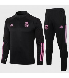 Real Madrid Black Soccer Football Tracksuit 2020-2021