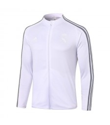 Real Madrid White Soccer Jacket Football Tracksuit 2020-2021